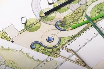 Garden drawings overhead view