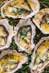 Grilled oysters.