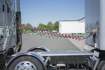 Truck trailer at a loading dock