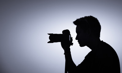 Professional photographer, photography learning concept.