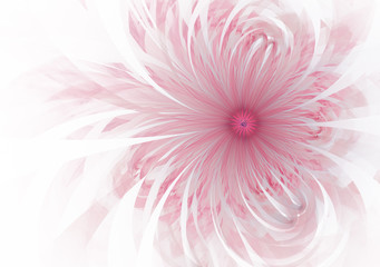 Gentle and soft fractal flowers computer generated image for logo, design concepts, web, prints, posters. Flower background