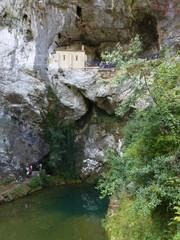 Covadonga en el concejo de Cangas de Onís en el Principado de Asturias, España