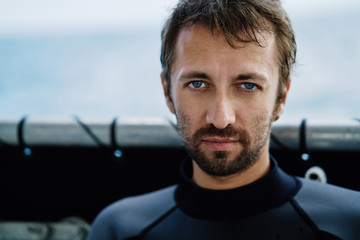Portrait of professional diving instructor