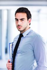 Beautiful young businessman portrait