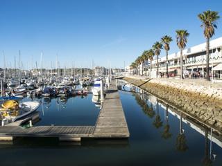 Hafen in Lagos an der Algarve