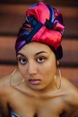 Burmese Girl with Headscarf