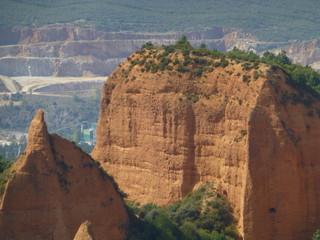 Las Médulas,antigua explotación minera de oro romana en la comarca de El Bierzo, provincia de León, comunidad autónoma de Castilla y León (España)