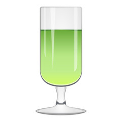 Isolated green cocktail
