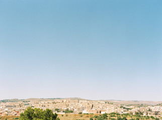 View of Noto from surrounding hill