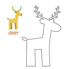 Kids coloring page - deer