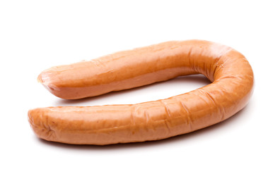 Large Sausage on a White Background