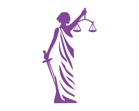 Lady justice logo vector