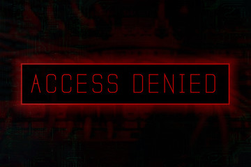"""""""Access denied"""" on a computer system"""