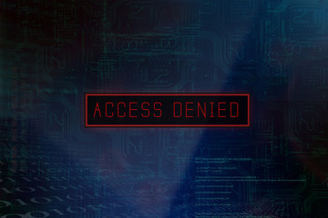 """Access denied"" on a computer system"