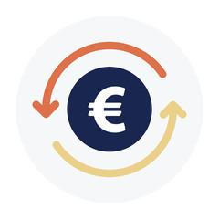 Euro sign Flat Graphic Design