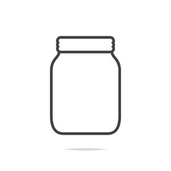 Jar line icon vector
