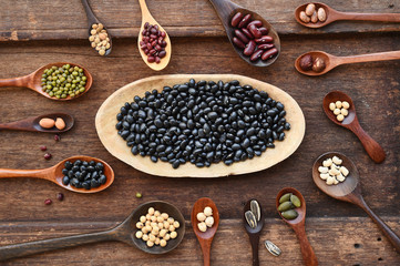 collection of different legumes for background