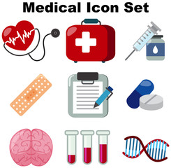 Medical icon set on white background