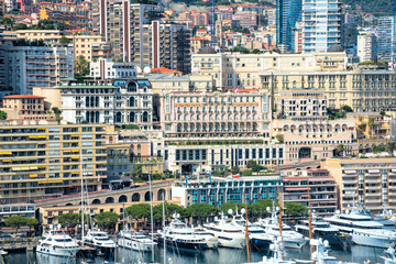 Monte Carlo district of Monaco is vit for apartments and yachts