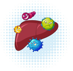 Bacteria in human liver