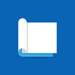 Flat open book concept icon or logo element