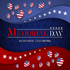 Memorial day vector design. Honoring all who served banner for the memorial day.