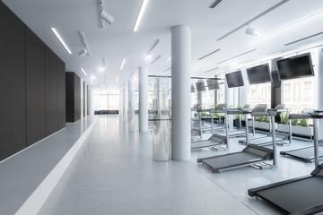 Laufbänder im Fitness-Zenter, leer (Vision)