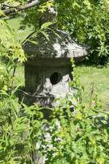 Japanese lantern, lanterns for the Japanese garden, small architectural form. Lantern in the Garden of Japan