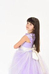 cute little girl in fashionable dress