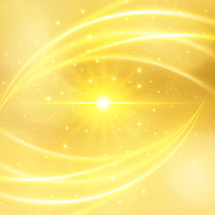 Abstract luxury gold background with sun lights