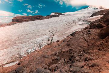 Volcano Tronador and glaciers of Alerce and Castano Overa