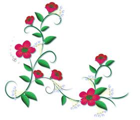vector floral border..