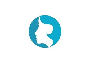 woman face vector template