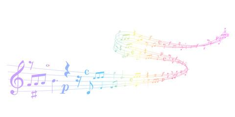 音符 楽譜 カラフル 背景
