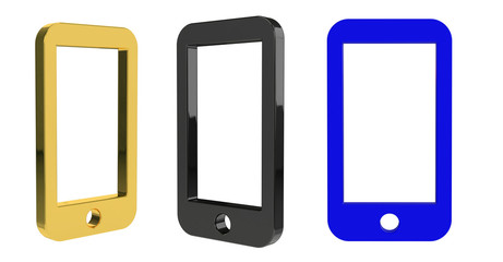 3d rendering illustration of the phone