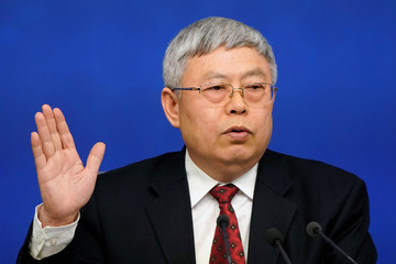 Liu Yongfu, Minister of the State Council Leading Group Office of Poverty Alleviation and Development, attends a news conference on the sidelines of China's NPC in Beijing