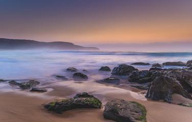 Hazy Dawn Seascape