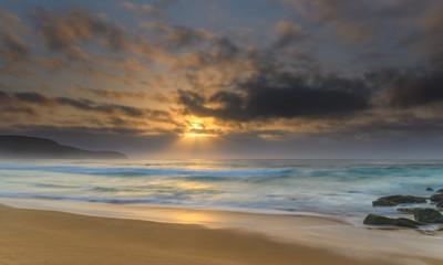 Hazy Sunrise Seascape