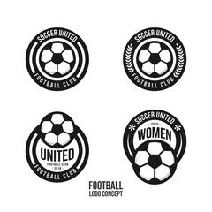 Football Club Logo Set Vector Template Design