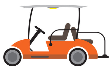 Side  View of Golf cart Vector