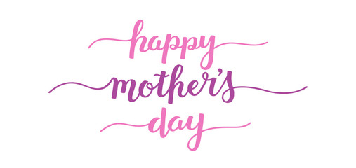 Wall Mural - HAPPY MOTHER'S DAY brush calligraphy banner
