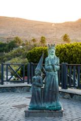 Eine Statue im Dorf Santa Lucia, Gran Canaria
