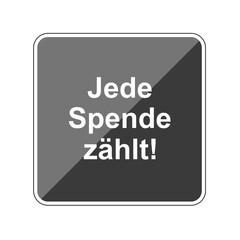 Jede Spende zählt - Reflektierender App Button