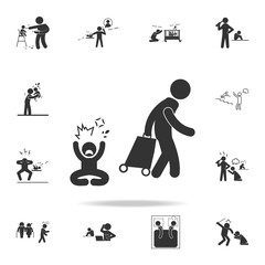 leave the family one of the parents icon. Detailed set of illustration bad family icons. Premium quality graphic design. One of the collection icons for websites, web design