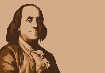 Benjamin Franklin - portrait - inventeur - États Unis - personnage historique - Amérique - orage