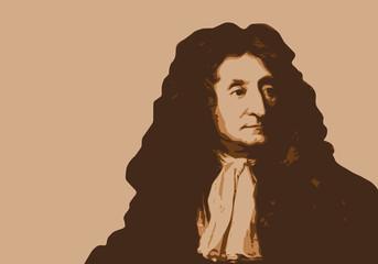 Jean de La Fontaine - portrait, fable - personnage célèbre - écrivain - littérature - livre