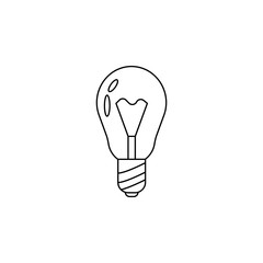 bulb icon. Element of banking icon for mobile concept and web apps. Thin line  icon for website design and development, app development. Premium icon