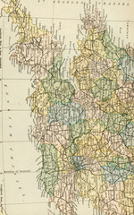 Vintage Map of England and Wales - Early 1800 Antique Maps of the World