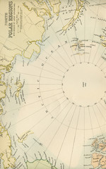 Antique Map of the North Pole - Early 1800 Vintage Maps of the World