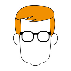 Young man smiling cartoon icon vector illustration graphic design